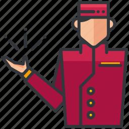 bell, bellboy, boy, essentials, hotel, service icon