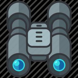 binoculars, essentials, hotel, search, view icon