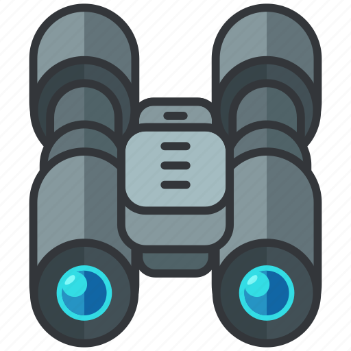 binoculars, essentials, hotel, search, view icon