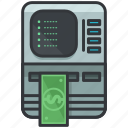cash, essentials, finance, hotel, machine, money icon