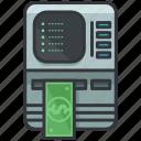 cash, essentials, finance, hotel, machine, money