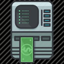 cash, essentials, finance, hotel, machine, money icon