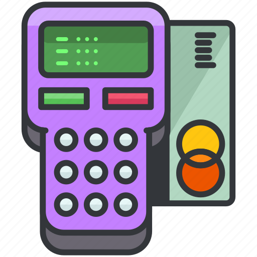 card, credit, essentials, hotel, machine, payment icon
