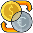 currency, essentials, exchange, finance, hotel icon