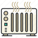 appliance, essentials, heater, heating, hotel icon