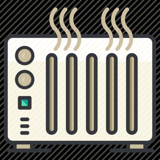 appliance, essentials, heater, heating, hotel icon