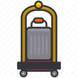 carrier, essentials, hotel, luggage, service icon