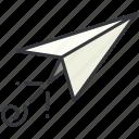 airplane, message, paper, plane