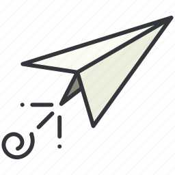 airplane, message, paper, plane icon