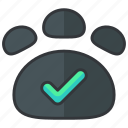 approve, confirm, essentials, hotel, permitted, pets icon