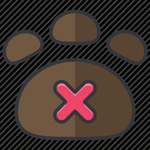 essentials, forbidden, hotel, pets, prohibited icon