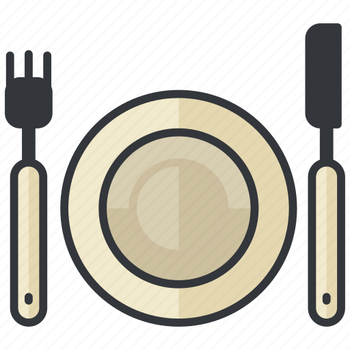 eat, food, fork, knife, plate, restaurant icon