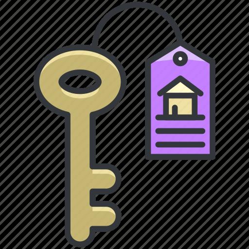 essentials, hotel, key, room, tag icon