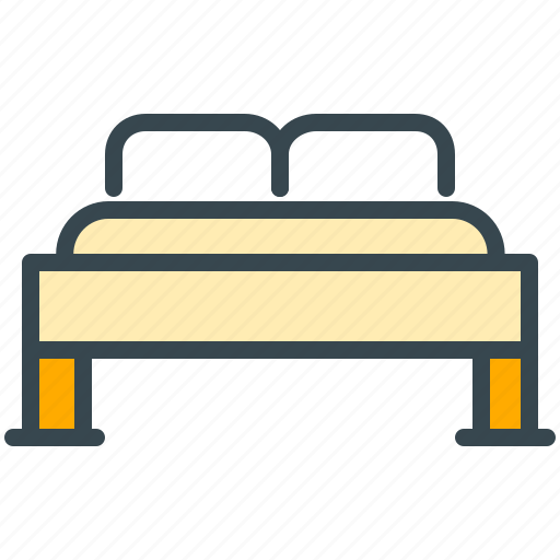 bed, bedroom, facilities, furniture, hotel icon