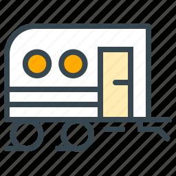caravan, facilities, hotel, trailer, transportation, vehicle, wagon icon