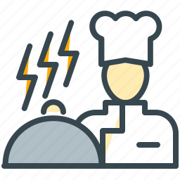 chef, cooking, facilities, food, hotel, kitchen, service icon