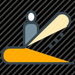 escalator, facilities, hotel, stairway, upward icon