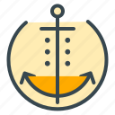 anchor, boat, hotel, marine, sailor, ship, yacht icon