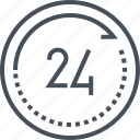 all day long, clock, day, service, working hours icon