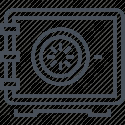 app, bank, box, money, safe, vault icon