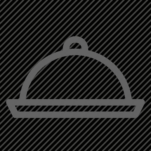 cloche, hotel, platter icon