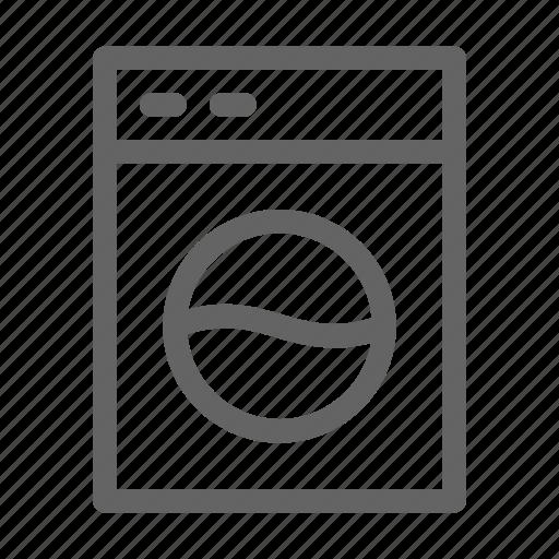 hotel, laundry, washing machine icon