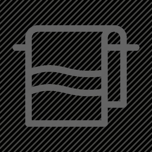 hanger, hotel, towel icon