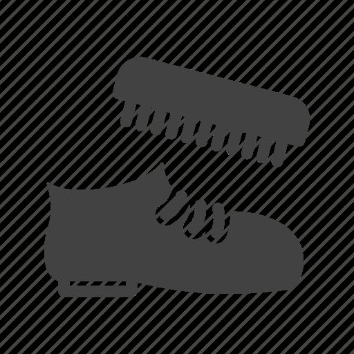 brush, clean, leather, polish, shoe, shoemaker, shoes icon