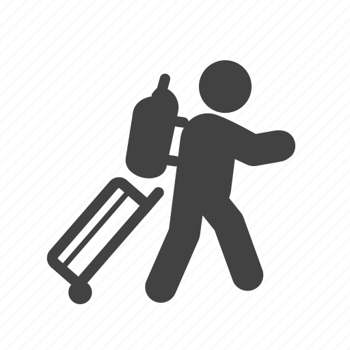 bag, baggage, hotel, luggage, suitcase, travel, vacation icon