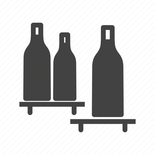 bottle, bottles, milk, sauce, shelf, shelves, shopping icon