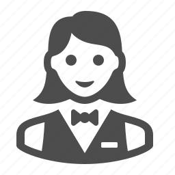 bus girl, busgirl, girl, people, restaurant, waiter, woman icon