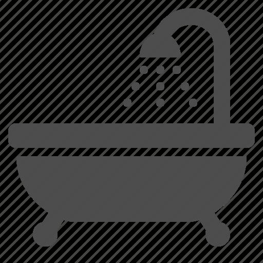 amenities, bathroom, bathtub, drops, hotel, shower, tub icon