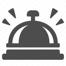 bell, front desk, hotel, hotel bell icon