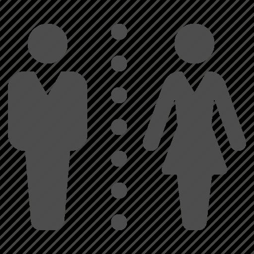 Bathroom Sign Man And Woman bathroom, man, restroom, sign, toilet, wc, woman icon | icon