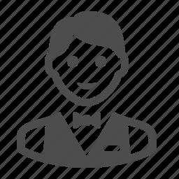 boy, bus boy, busboy, man, people, restaurant, waiter icon