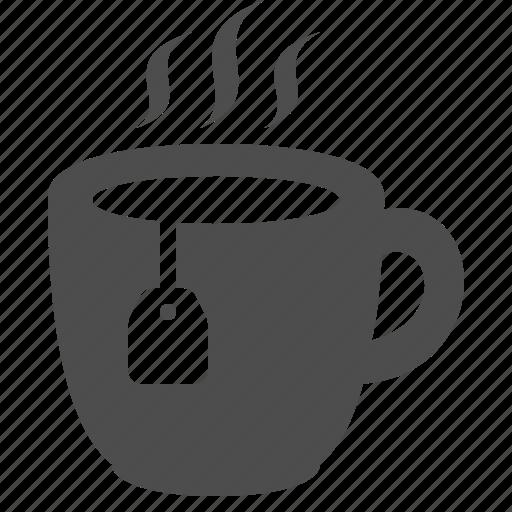 cup, cup of tea, hot, mug, tea, tea bag, teabag icon