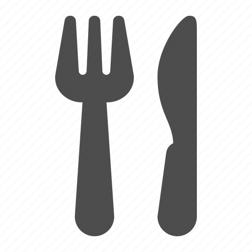 dinner, eating, food, fork, kitchen, knife, restaurant icon