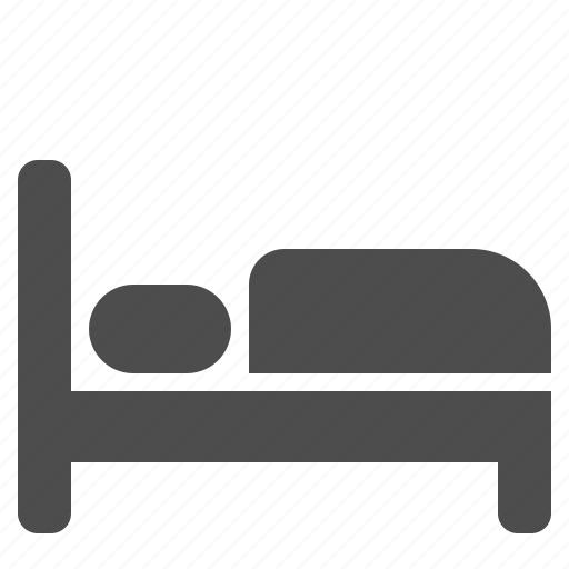 bed, bedroom, hotel, motel, pillow icon