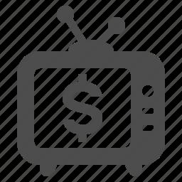 antique, hotel, money, pay-per-view, set, tv icon