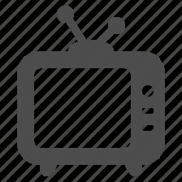 antenna, set, television, tv icon