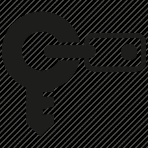 key, lock, secure icon
