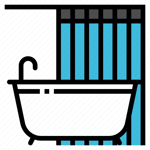bathroom, bathtub, facility, shower, toilet icon