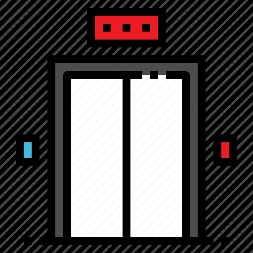 amenitie, elevator, hotel, lift, passenger icon