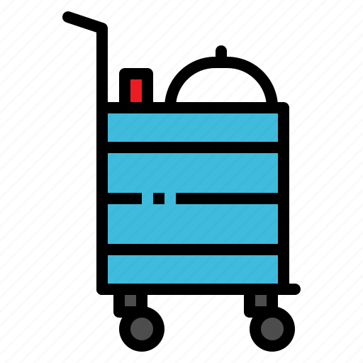 gueridon, service, serving, trolley icon
