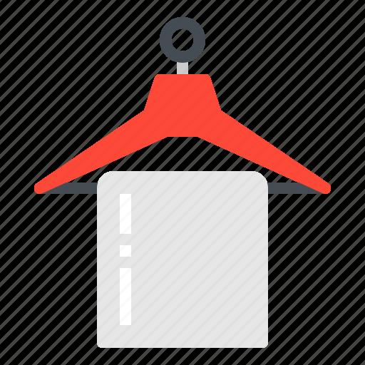 amenitie, clothes, hanger, hotel, towel icon