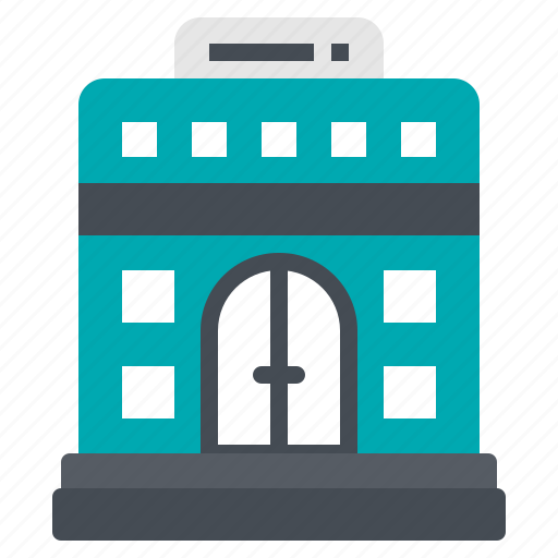 accommodation, building, hotel, travel, vacation icon
