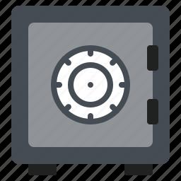 box, code, money, password, safe icon