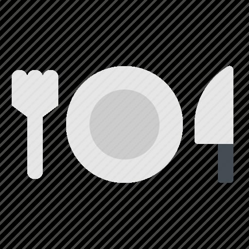 dish, fork, knife, plate, utensil icon