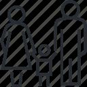 accommodation, family, hotel, line, room, thin, travel icon