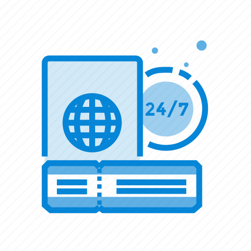 check, express, in, passport icon
